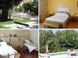 Chambres d'hôtes de charme , Mas de Ravert, saint etienne du gres 13103