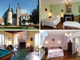 Chambres d'hôtes de charme , Château de Clusors, saint menoux 03210